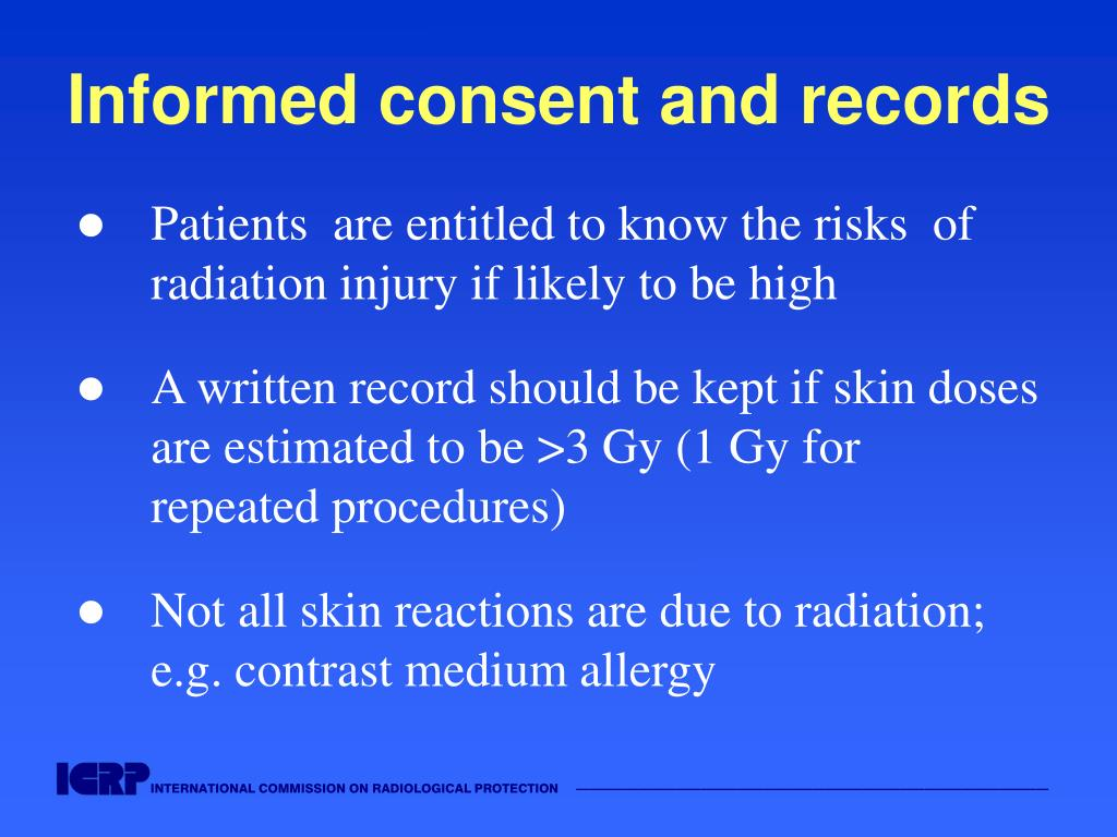 Informed consent and records