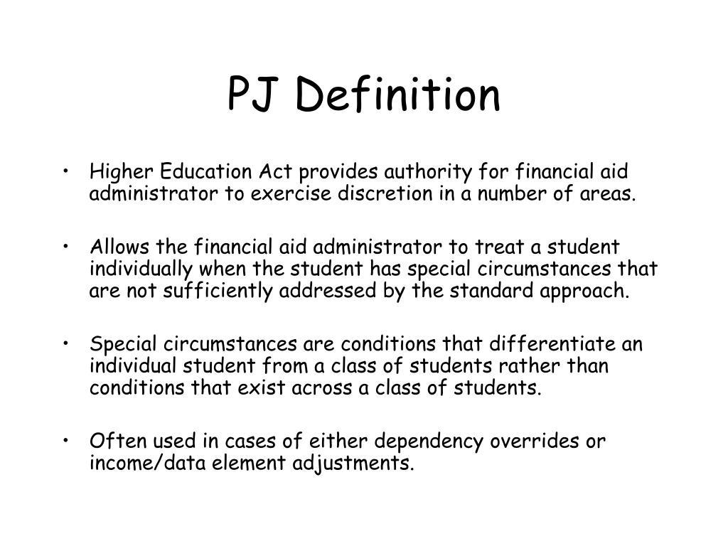 PJ Definition
