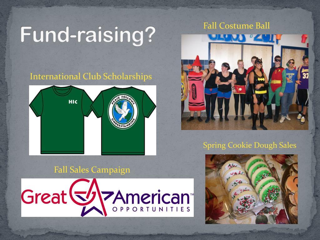 Fund-raising?
