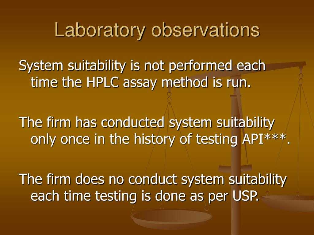 Laboratory observations