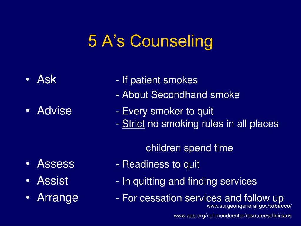 5 A's Counseling