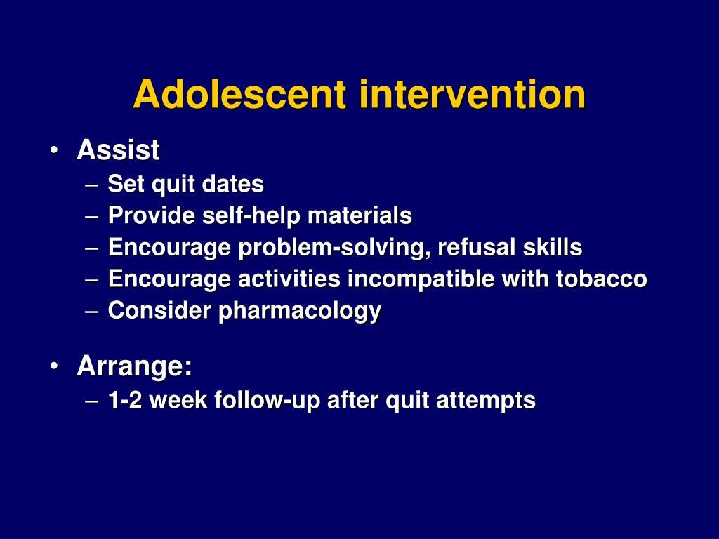 Adolescent intervention