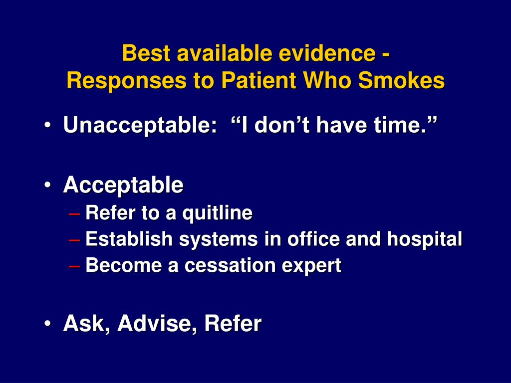 Best available evidence -