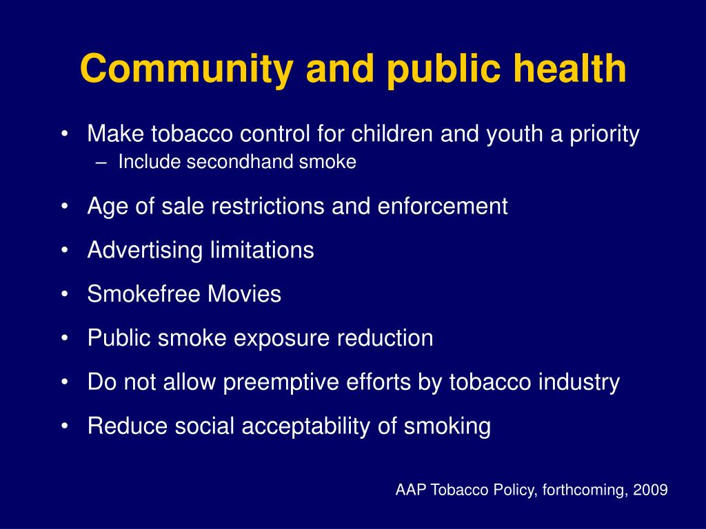 Community and public health