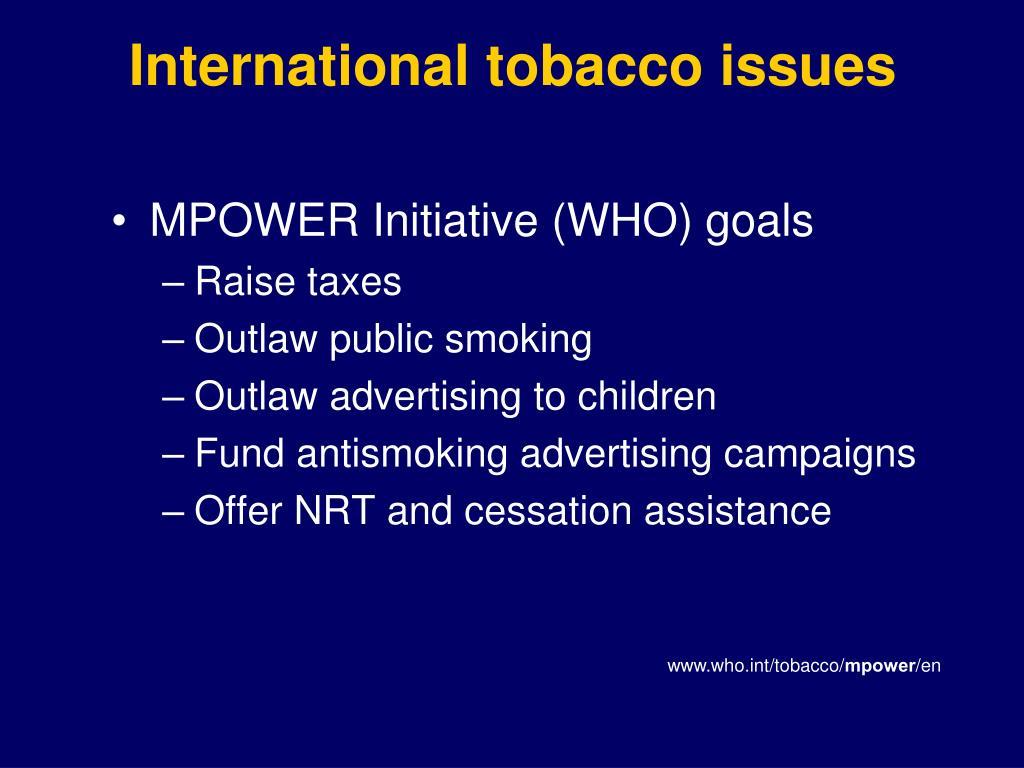 International tobacco issues