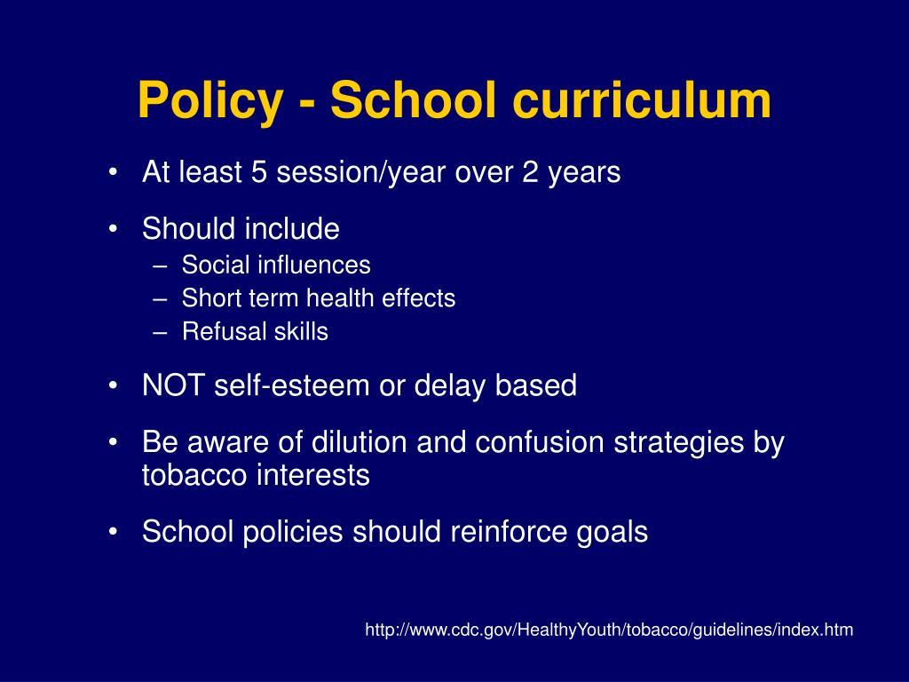 Policy - School curriculum