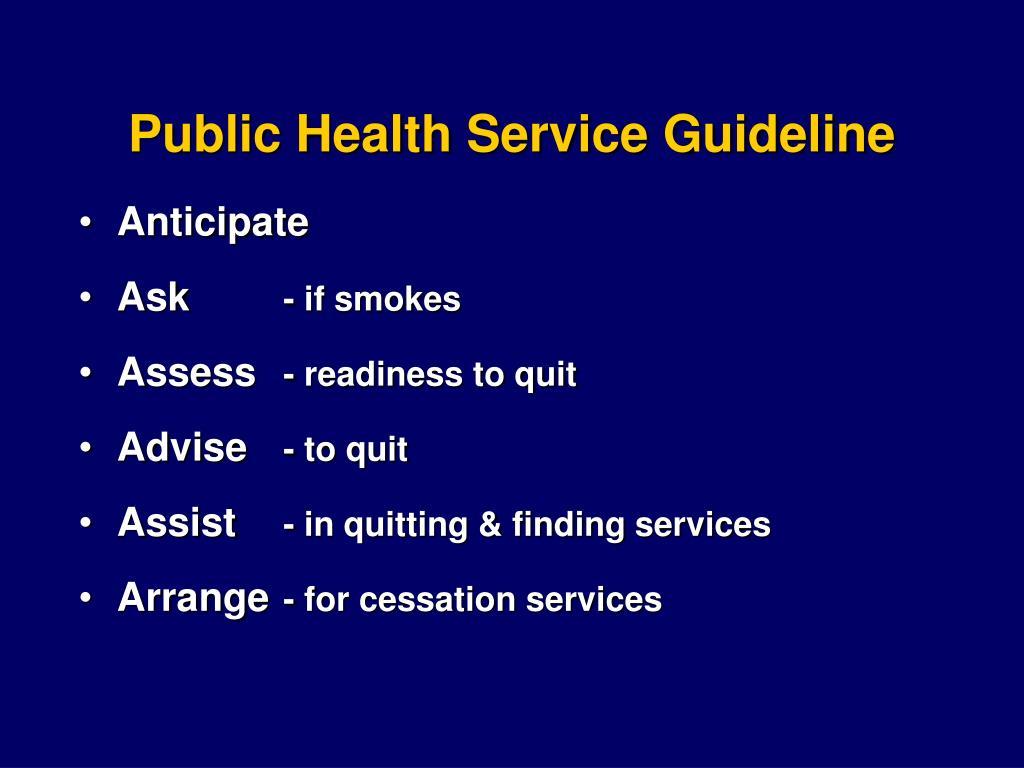 Public Health Service Guideline