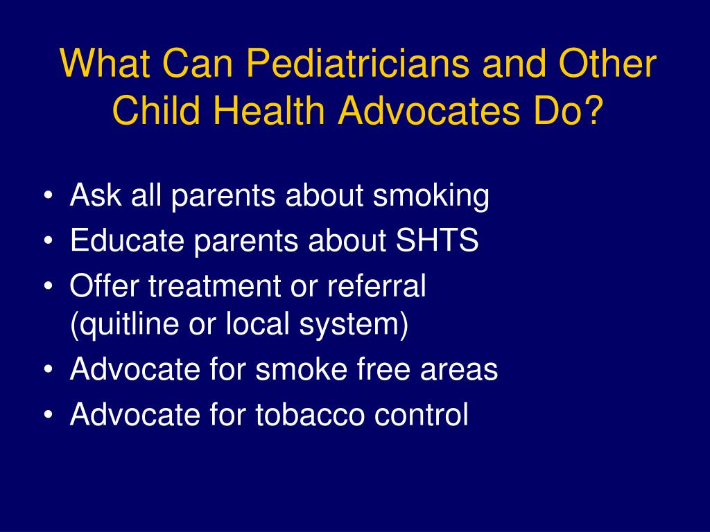 What Can Pediatricians and Other