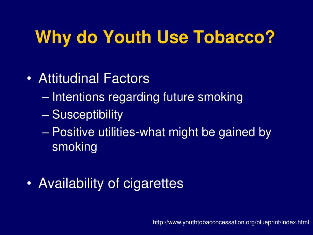 Why do Youth Use Tobacco?
