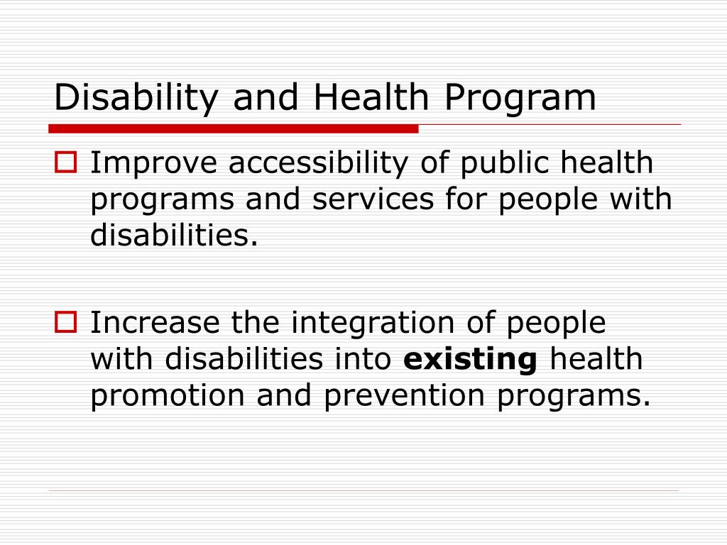 Disability and Health Program