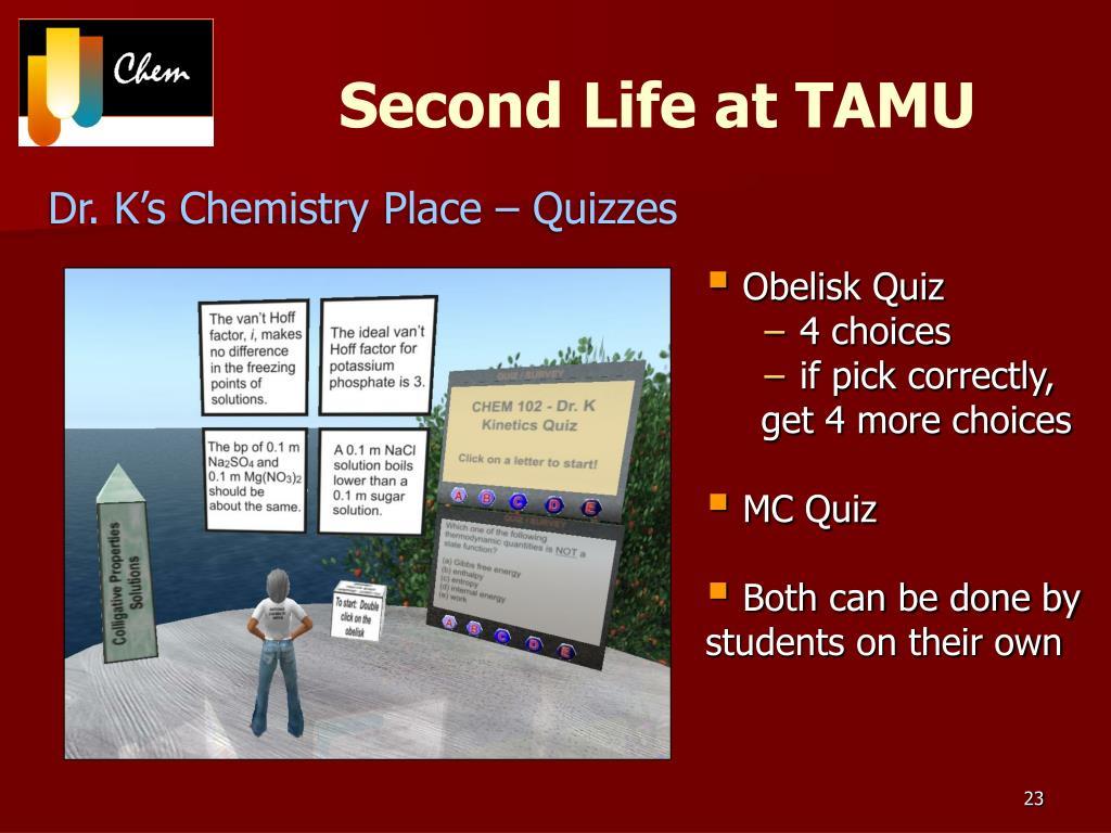 Second Life at TAMU
