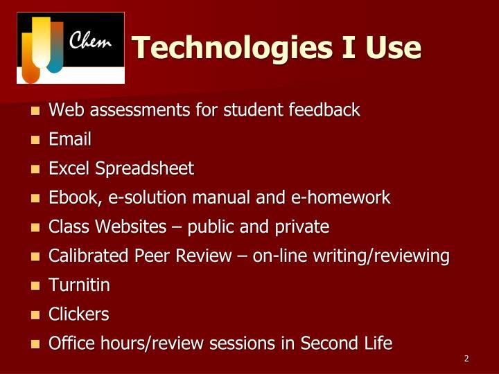 Technologies i use