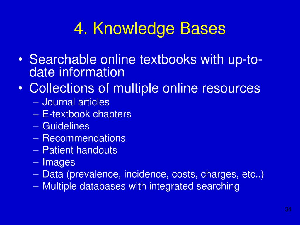 4. Knowledge Bases