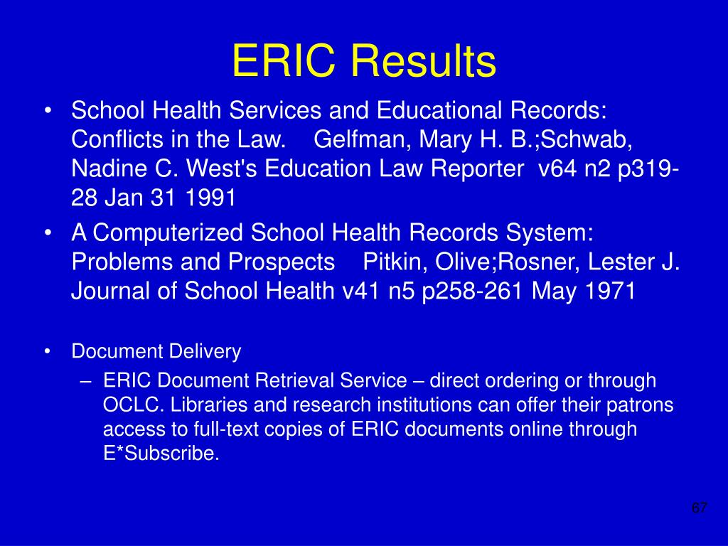 ERIC Results