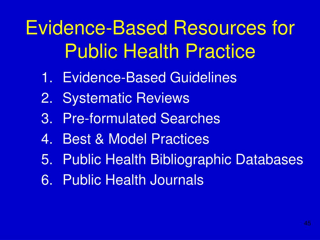 Evidence-Based Resources for