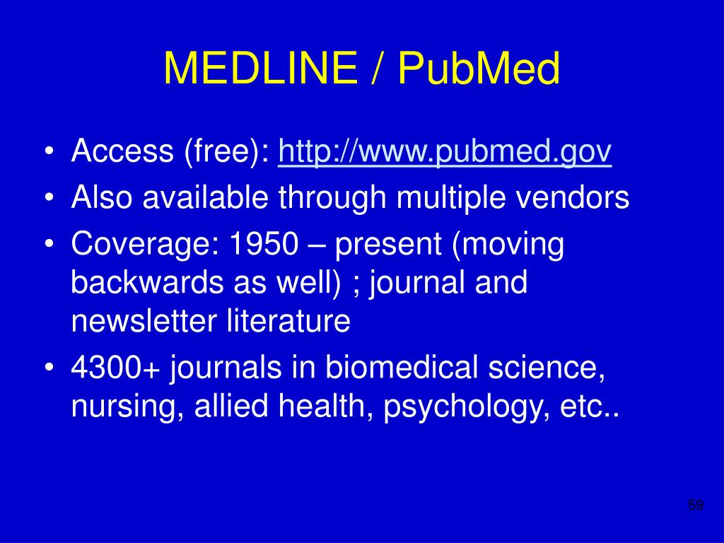 MEDLINE / PubMed