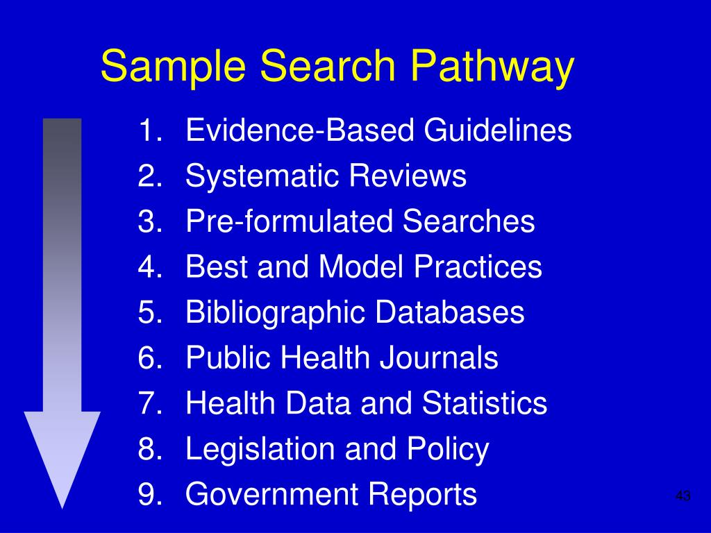 Sample Search Pathway