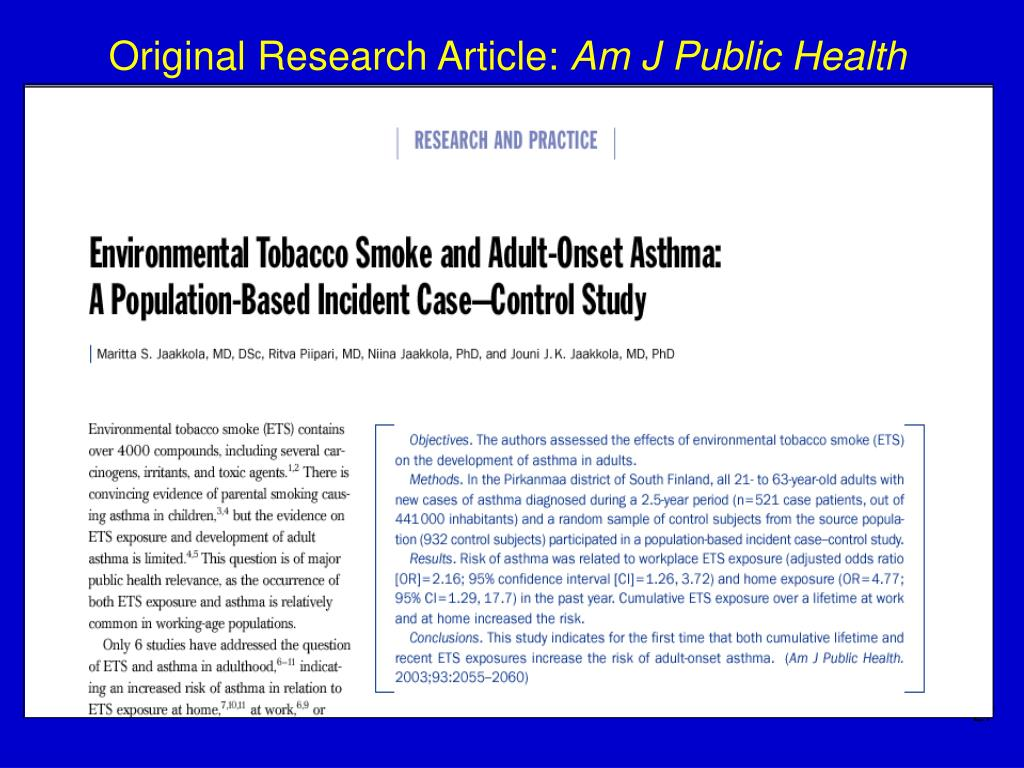 Original Research Article: