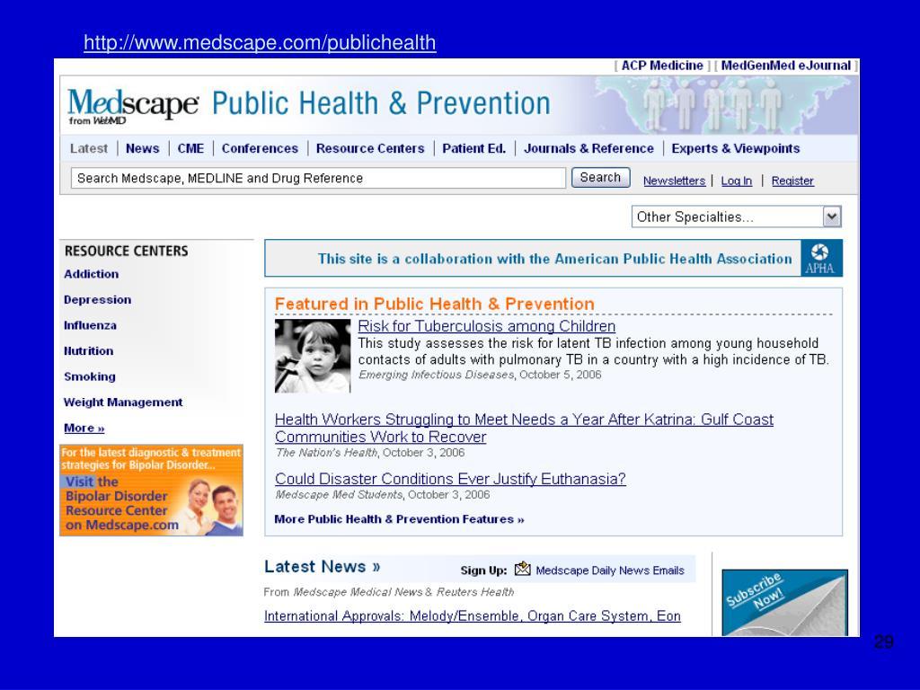 http://www.medscape.com/publichealth