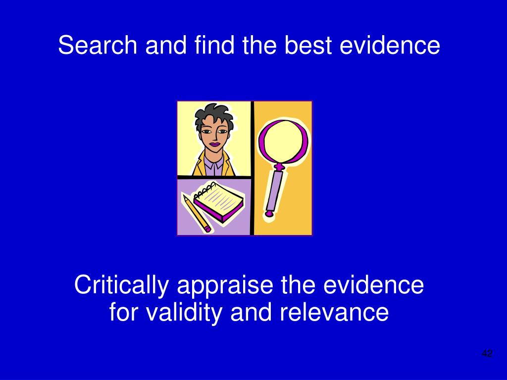 Search and find the best evidence