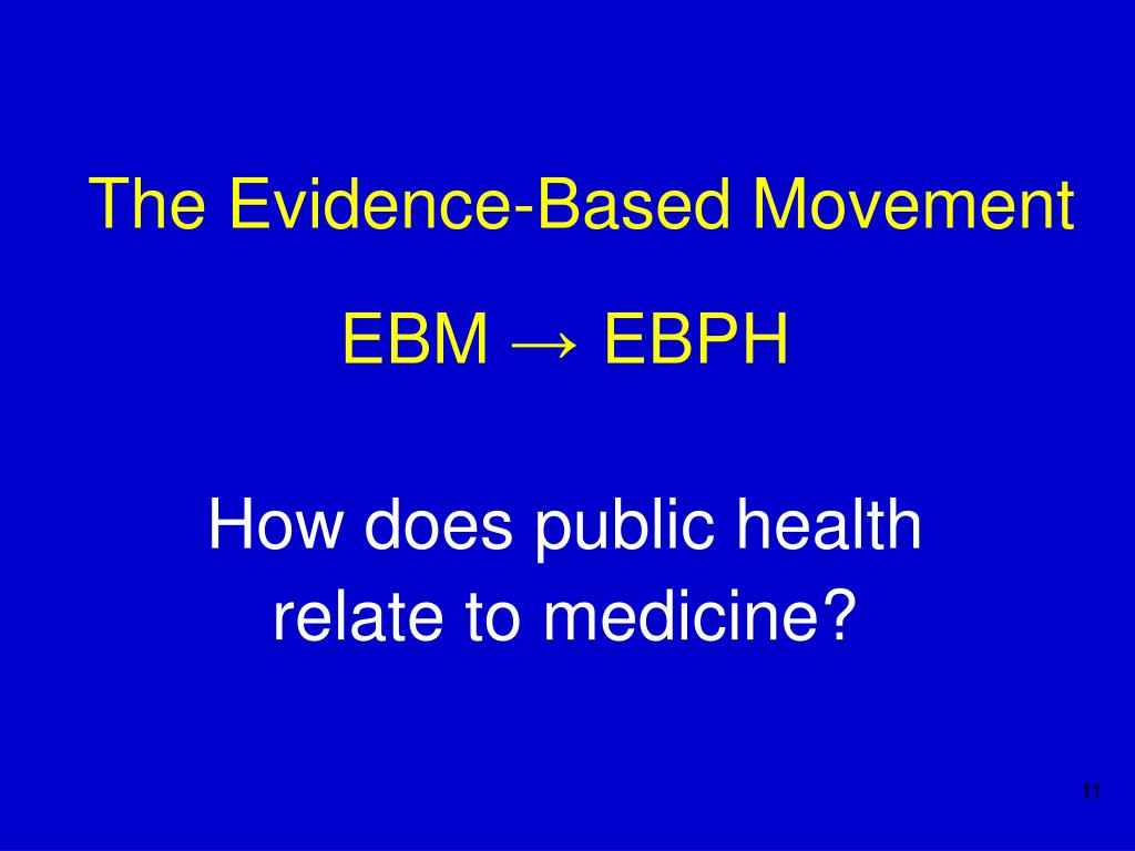 The Evidence-Based Movement