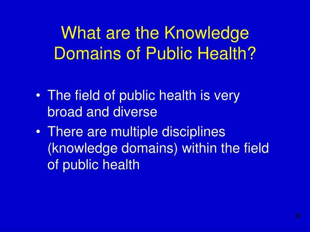 What are the Knowledge Domains of Public Health?