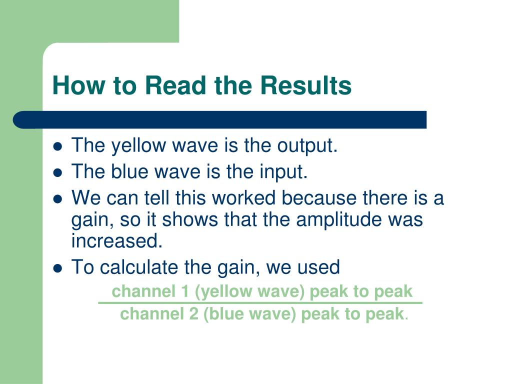 How to Read the Results