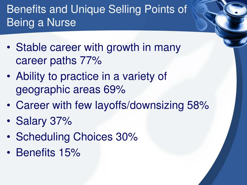 Benefits and Unique Selling Points of Being a Nurse