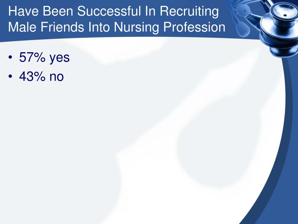 Have Been Successful In Recruiting Male Friends Into Nursing Profession