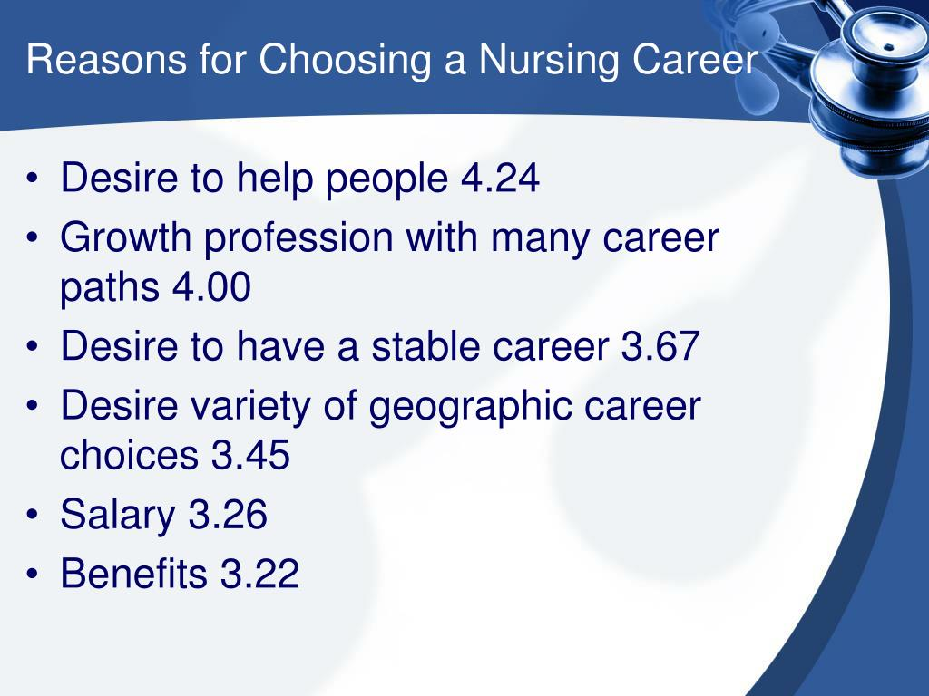 Reasons for Choosing a Nursing Career