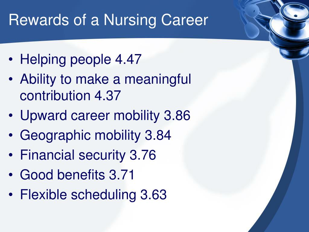 Rewards of a Nursing Career