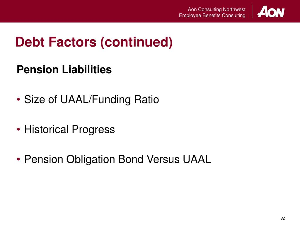 Debt Factors (continued)