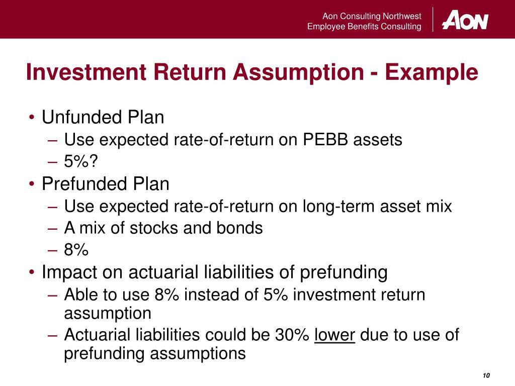 Investment Return Assumption - Example