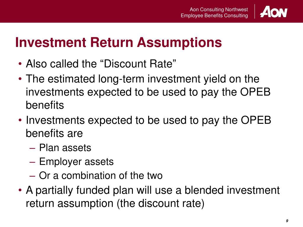 Investment Return Assumptions