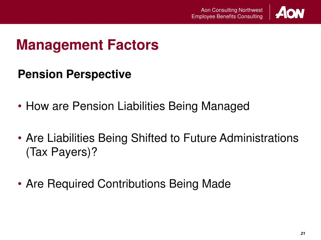 Management Factors