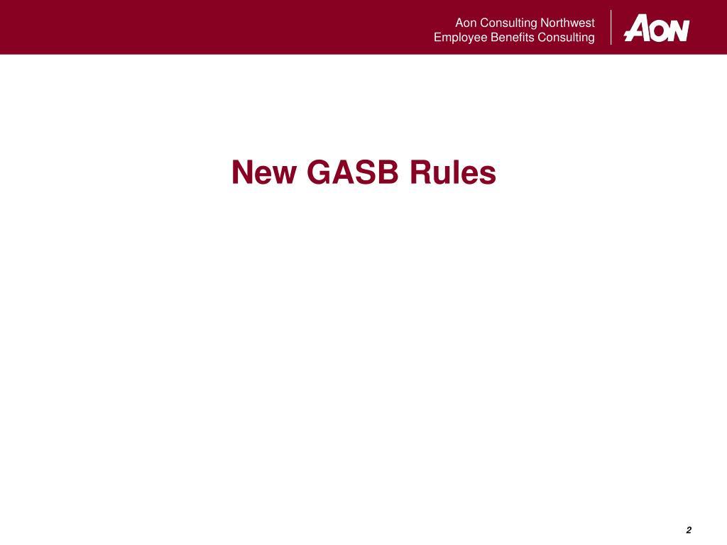 New GASB Rules