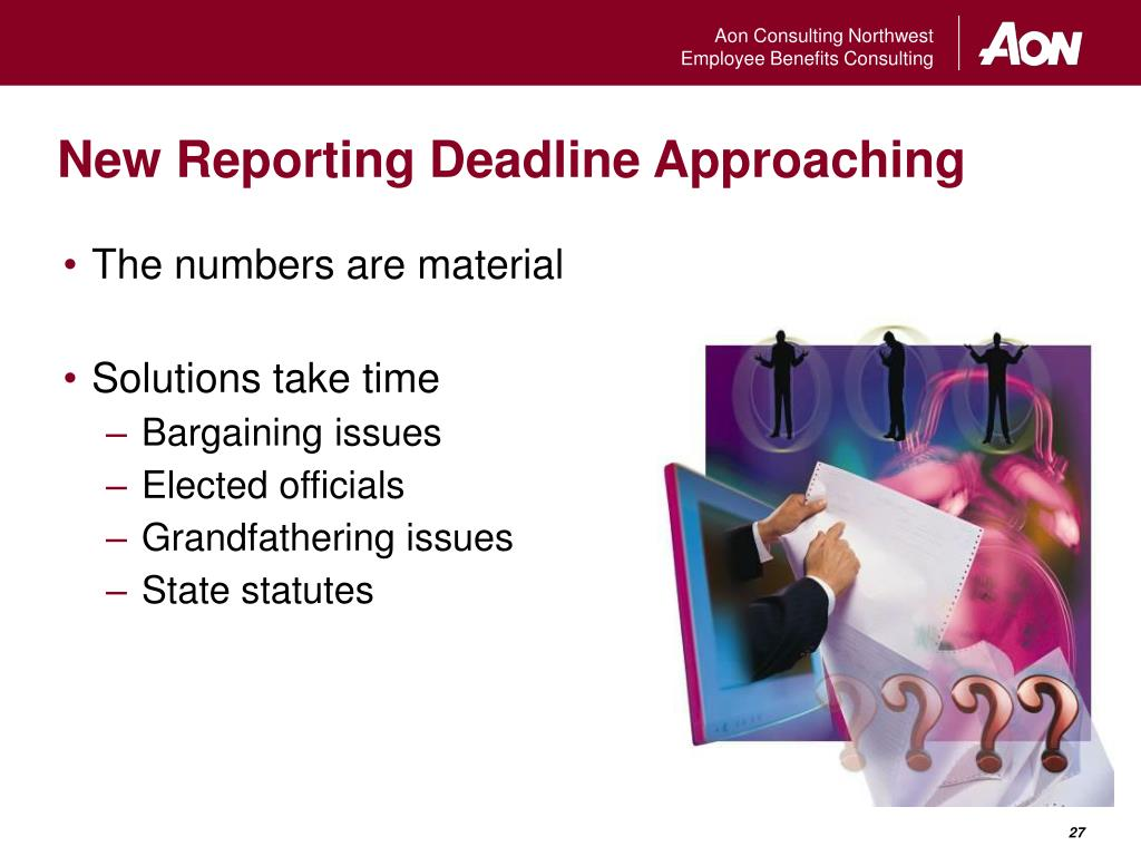 New Reporting Deadline Approaching