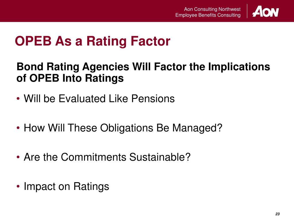 OPEB As a Rating Factor
