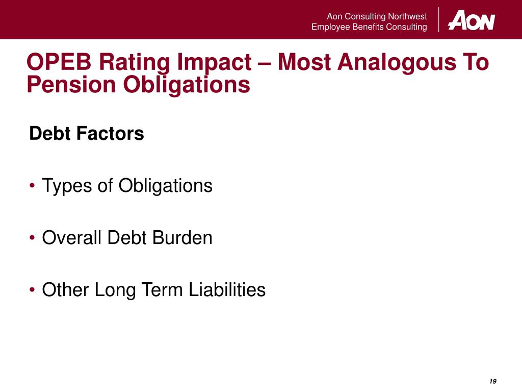 OPEB Rating Impact – Most Analogous To Pension Obligations