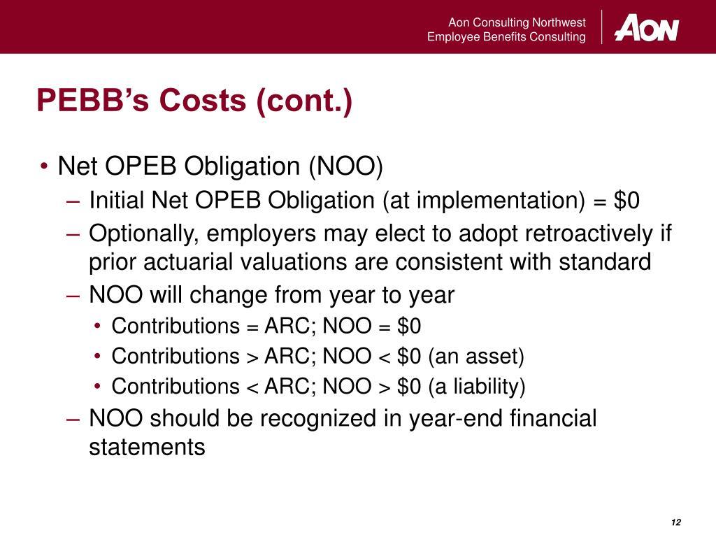 PEBB's Costs (cont.)
