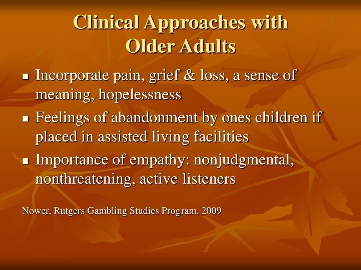 Clinical Approaches with