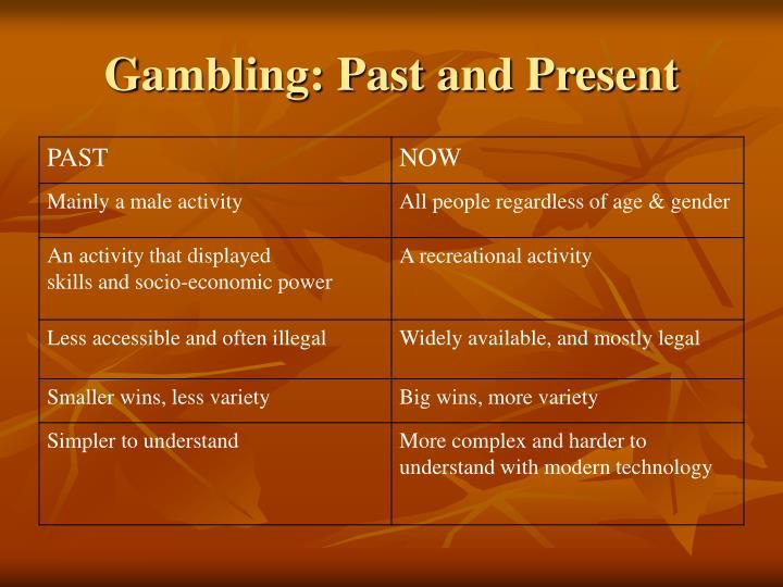 Gambling: Past and Present