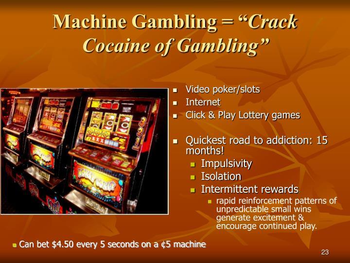 """Machine Gambling = """""""