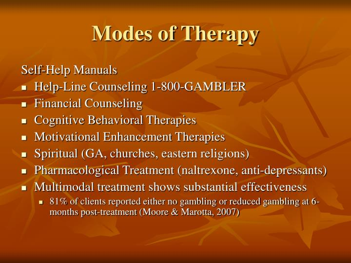 Modes of Therapy
