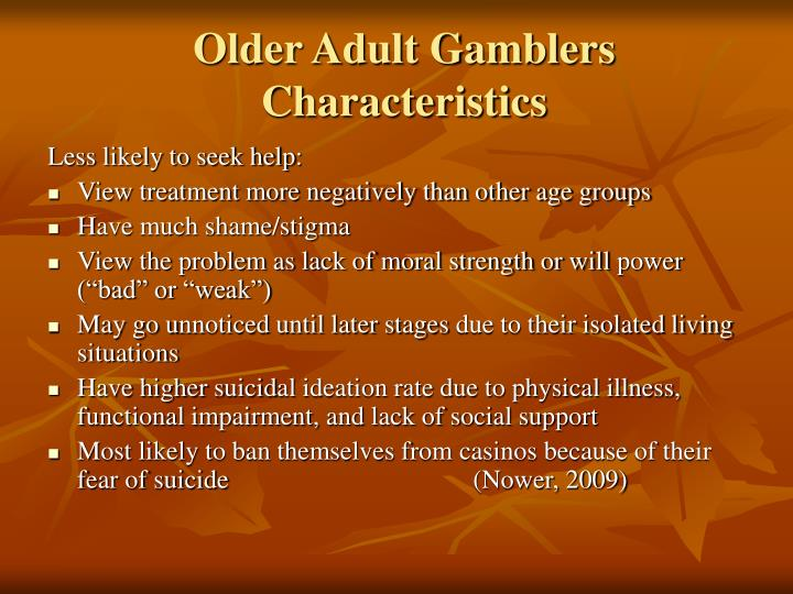 Older Adult Gamblers