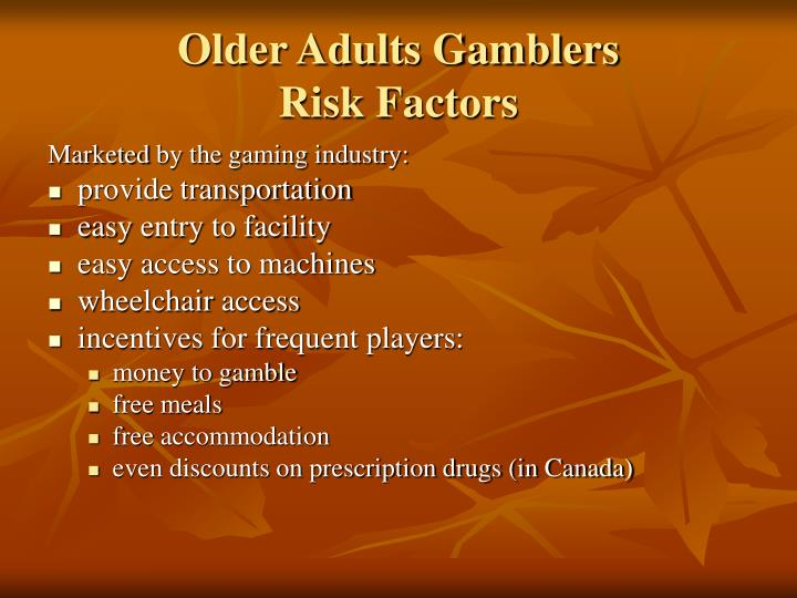 Older Adults Gamblers
