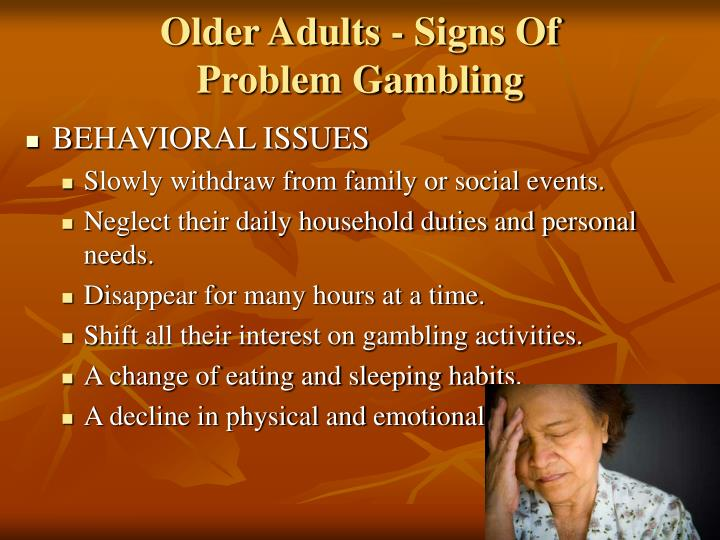 Older Adults - Signs Of