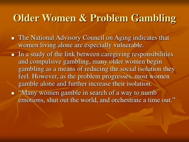 Older Women & Problem Gambling