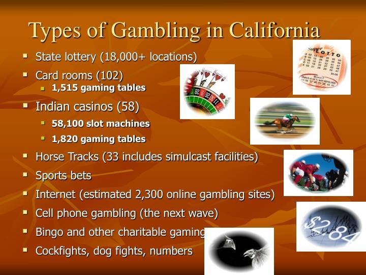 Types of Gambling in California