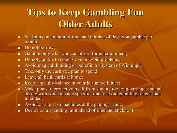 Tips to Keep Gambling Fun